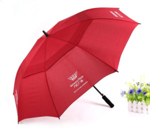 Big Size Double Canopy Polyester Windproof Golf Umbrella pictures & photos