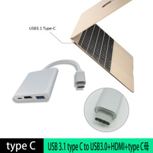 3 in 1 USB 3.1 Type C to HDMI Adapter pictures & photos