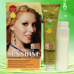 Sunshine Hair Color Cream with Dark Blonde Hair Beauty pictures & photos