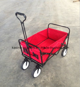 Hot Sales Outdoor Foldable Carring Wagon Cart with Expanded Handle pictures & photos
