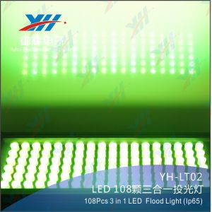 Outdoor City Color 108PCS 3W RGB 3-in-1 IP65 Waterproof LED Wall Washer Light Flood Light pictures & photos