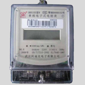 Single Phase Two Wires Electronic Kwh Meter with RS485 Communication Module pictures & photos