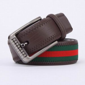Webbing and Genuine Leather Belt Man Leisure Golf Belt (SR-13038) pictures & photos