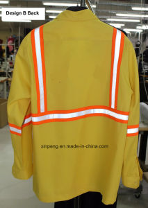 Safety Work Suits for Cleaner with Reflective Tapes T/C Fabric pictures & photos