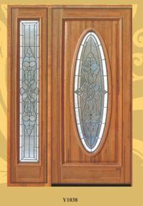 American Standard Oak Entrance Glass Door for Villa pictures & photos