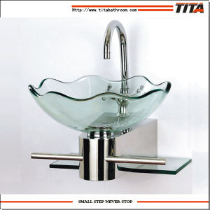 2016 Glass Bathroom Glass Basin/Bathroom Sink Porcelain Sinks/Clear Tempered Glass Basins for Bathrooms (TB052) pictures & photos