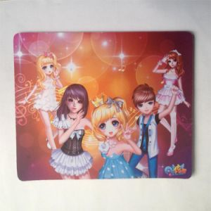 Rubber Mouse Mat with Fabric Mouse Pad pictures & photos
