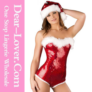 Sexy Adult Women Christmas Santa Costume Lingerie pictures & photos