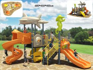 Marine Series Kids Outdoor Playhouse, Children Slide (BH04401)