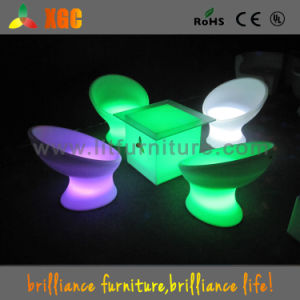 LED Color Chair Movable Outdoor Lighting Furniture