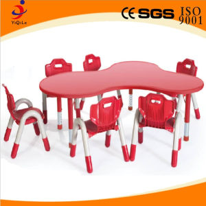 Nursery School Kids Study Furniture Table and Chairs (YQL-19602A)