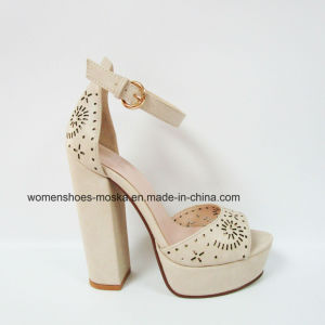 Sexy Lady Fashion Women Chunky High Heel Sandals pictures & photos