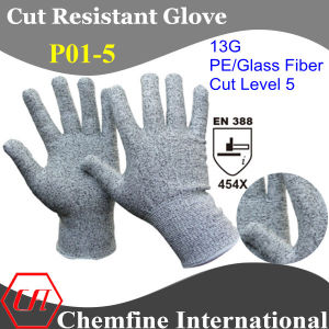 13G PE/Glass Fiber Knitted Glove/ En388: 454X pictures & photos
