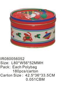 Round Christmas Tin Gift Box with Competitive Price pictures & photos
