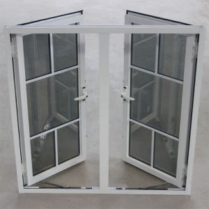 Double Glass with Grid, Powder Coated Aluminium Casement Window K03002 pictures & photos