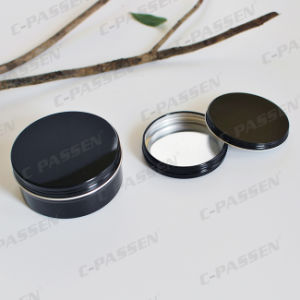 150g Glossy Black Aluminum Cosmetics Packaging Container pictures & photos