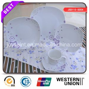 Exquisite Decal Square Porcelain Dinnerware pictures & photos