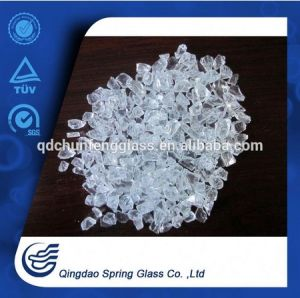 3.0 - 4.0 mm White Clear Crushed Glass Particles pictures & photos