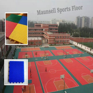 Indoor\Professional Cheap PP Interlocking Sports Flooring for Basketball Court pictures & photos