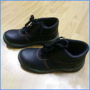 Black Injection Outsole Steel Toe Cap Safety Worker Shoes pictures & photos
