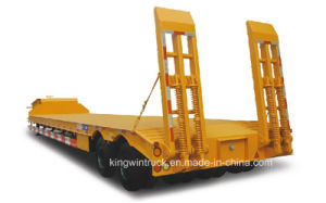 China Brand Cimc Two Axles Low Bed Semi Trailer pictures & photos