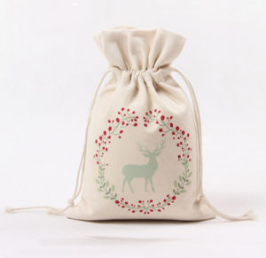 Christmas Xmas Cotton Gift Bags Santa Sack Organic Drawstring Bag pictures & photos
