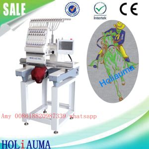 Tajima Type Single Head 15 Needle Happy Machine Embroidery Dahao Computer Hat Lace Flat Embroidery Machine pictures & photos
