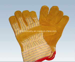 Full Palm Cow Leather Working Gloves 1105 pictures & photos