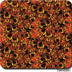 Tsautop 0.5m Width Skull Flame Hydrographic Water Transfer Printing Film pictures & photos
