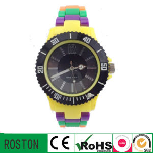 Customer Design Quartz Movement Plastic Sport Watch