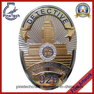 Los Angeles Detective Badge with 2 Tone Finish pictures & photos