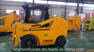 CE Compact Mini Multifunctional Rear Wheel Skid Steer Loader pictures & photos