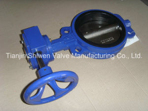 Wafer Type Butterfly Valve with Gearbox Operate pictures & photos