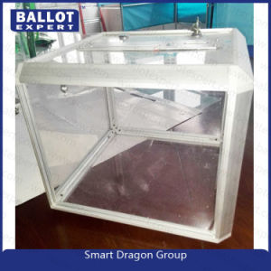 Large Clear Acrylic Ballot / Suggestion Box with Lock and 2 Keys