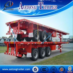 Tri Axle 40FT Flatbed Semi Trailer with 12unit Twist Locks pictures & photos