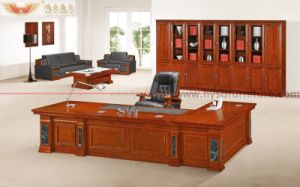 L Shape King Size Luxury Office Executive Table (HY-D7024) pictures & photos
