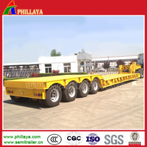 Front-Loading Detachable Gooseneck 3axles Low Boy Semi Trucks and Trailers pictures & photos