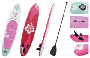 Pink Flower Popular Inflatable Sup Board Stand up Paddle Board Surf Board pictures & photos