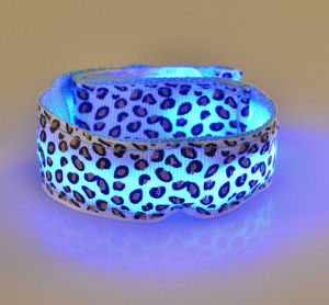 Hot Sale Leopard Colorful LED Wristband for Party with Logo Print