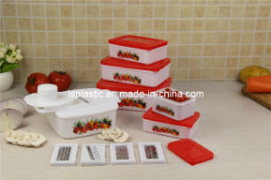 Plastic Kitchen Vegetable Slicers with 5 Food Containers (LS-2002)