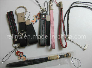 Mobile Phone Leather Hang Decorations Accessories (PVC-17)