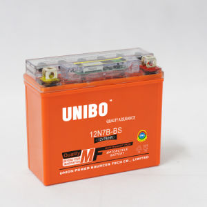 Motorcycle Battery High Performance Gel Sealed Maintenance Free Mf 12n7a-3b 12V7ah pictures & photos