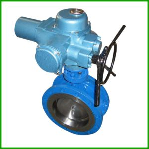 Electric/Motorised Metal Seat Double Flange Butterfly Valve pictures & photos