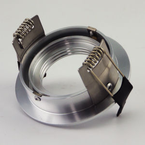 Lathe Aluminum GU10 MR16 Round Fixed Recessed LED Downlight (LT2110A) pictures & photos