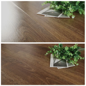 12mm Brown Oak HDF Hand-Scraped Embossment Wooden Laminated Flooring pictures & photos