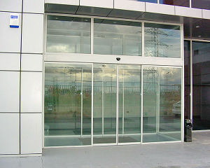 Automatic Sliding Glass, Frameless, Reverse Against Obstruction, with Fire-Control Signal Terminal pictures & photos