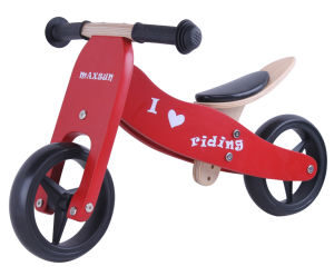 Specifical Customized Wooden Baby Mini Bike/Trike 2 in 1 Red pictures & photos