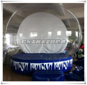 Hot Sale Inflatable Snow Globe with Blank Backdrop Christmas Decoration