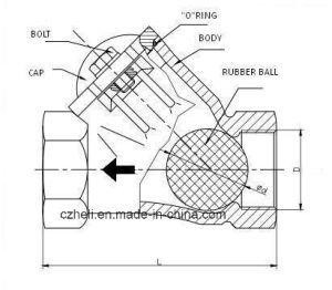 Stainless Steel Check Valve with Rubber Ball pictures & photos