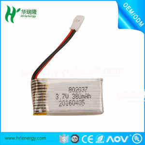 High Discharge Rate Li-ion Battery 3.7V 380mAh pictures & photos